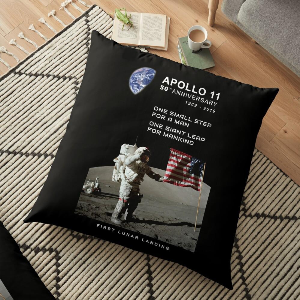 Apollo 11-50. Jahrestag 1969-2019, Mondlandung, Moon.Space Bodenkissen
