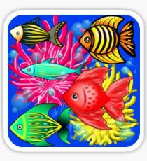 Fish Cute Colorful Doodles  Sticker