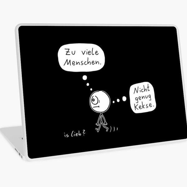 Genau falsch islieb Cartoon Laptop Folie