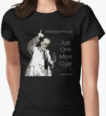 Just One More Cigar: Detective Freud Women's Fitted T-Shirt