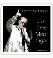 Just One More Cigar: Detective Freud Sticker