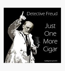 Just One More Cigar: Detective Freud Photographic Print