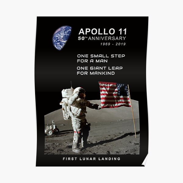 Apollo 11-50th Anniversary 1969-2019,Lunar Landing,Moon.Space Poster