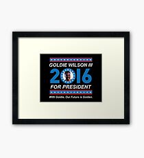 Goldie Wilson III for President 2016  Framed Print