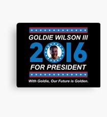 Goldie Wilson III for President 2016  Canvas Print