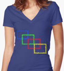 Colorful Art Women's Fitted V-Neck T-Shirt