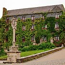 Ivy Covered Building Rochefort en Terre, Morbihan, Brittany, France by Buckwhite