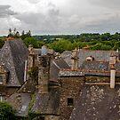 Roof Tops Rochefort en Terre, Morbihan, Brittany, France by Buckwhite