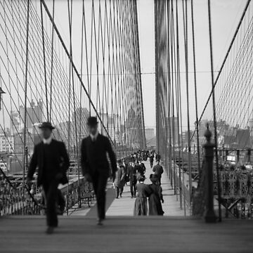 Brooklyn Bridge - Vintage New York - 1910 by warishellstore