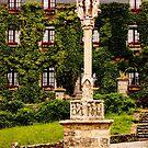 Crucifix Religious Stele Rochefort en Terre, Morbihan, Brittany, France by Buckwhite