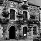 Old Building Rochefort en Terre - B&W - Morbihan, Brittany, France by Buckwhite