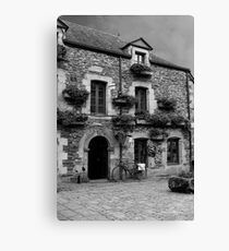 Old Building Rochefort en Terre - B&W - Morbihan, Brittany, France Canvas Print