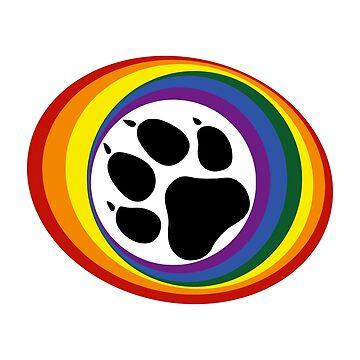 Rainbow Pup Pride by Steve616