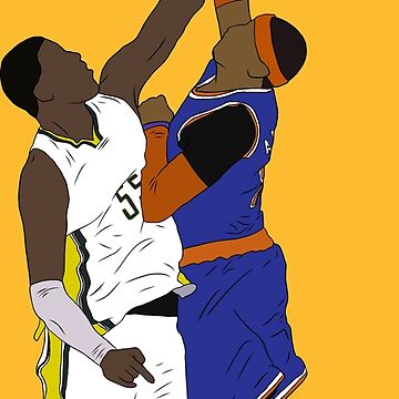 Roy Hibbert Blocks Carmelo Anthony by RatTrapTees