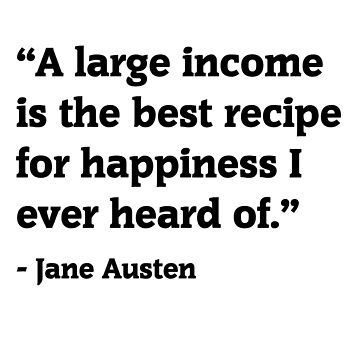 Jane Austen Funny money quote by epoliveira