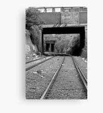 Off the Tracks Canvas Print