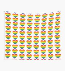 Pride Hearts Wall Tapestry