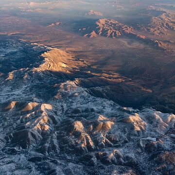 Slow Sunrise Over the High Desert - Mojave With a Dusting of Snow by GeorgiaM