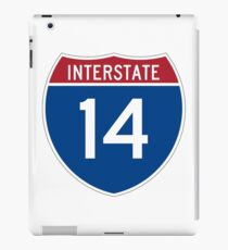 Interstate 14 iPad Case/Skin