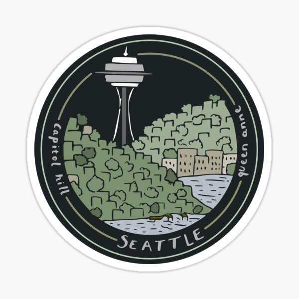 Seattle: Queen Anne and Capitol Hill Sticker