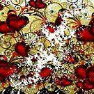 Scattered Heart Pixels  by lilbudscorner