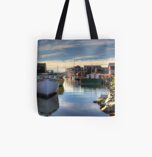 Fisherman's Cove, Eastern Passage All Over Print Tote Bag