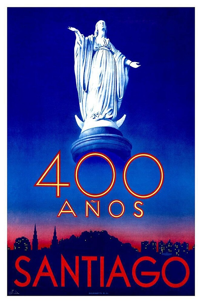 Vintage poster - Santiago by mosfunky