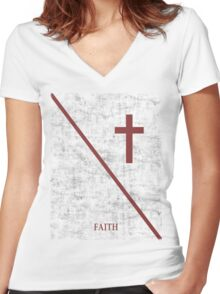 Christianity  Women's Fitted V-Neck T-Shirt