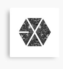 Logo Zentangle - EXO  Canvas Print