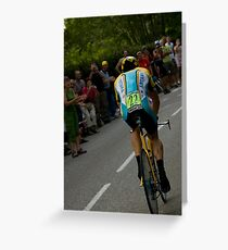 LANCE AMSTRONG Greeting Card