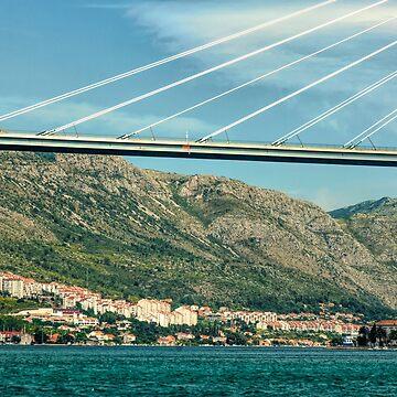 Franjo Tudjman Bridge of Dubrovnik by photograham