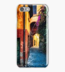 Narrow Street in Portofino iPhone Case/Skin