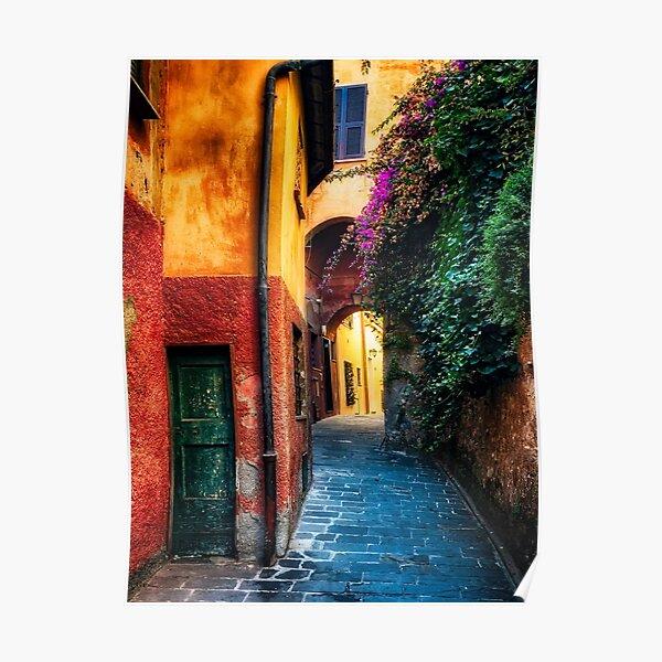 Narrow Street in Portofino Poster