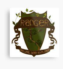 D&D Class: Ranger Crest Metal Print