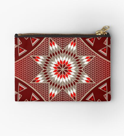 Morning Star with Tipi's (Red) Studio Pouch