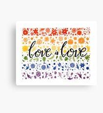 Love is Love - white Canvas Print