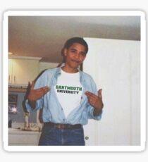 Dartmouth University Obama Sticker Sticker