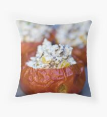 Baked Tomatoes With Mediterranean Ricotta Filling Throw Pillow