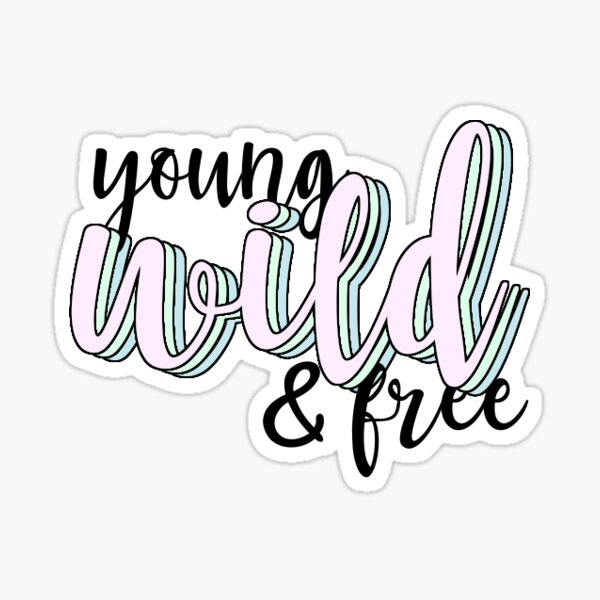 Wild and Free Sticker Decal
