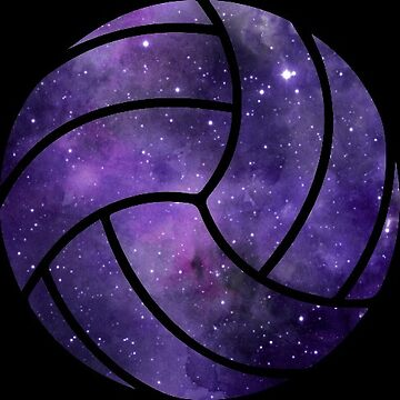 Galaxy Volleyball Purple Black Nebula by Distrill
