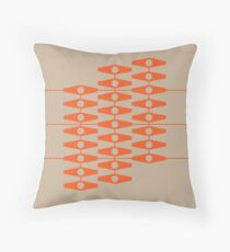 abstract eyes pattern (mix & match orange tan) Throw Pillow