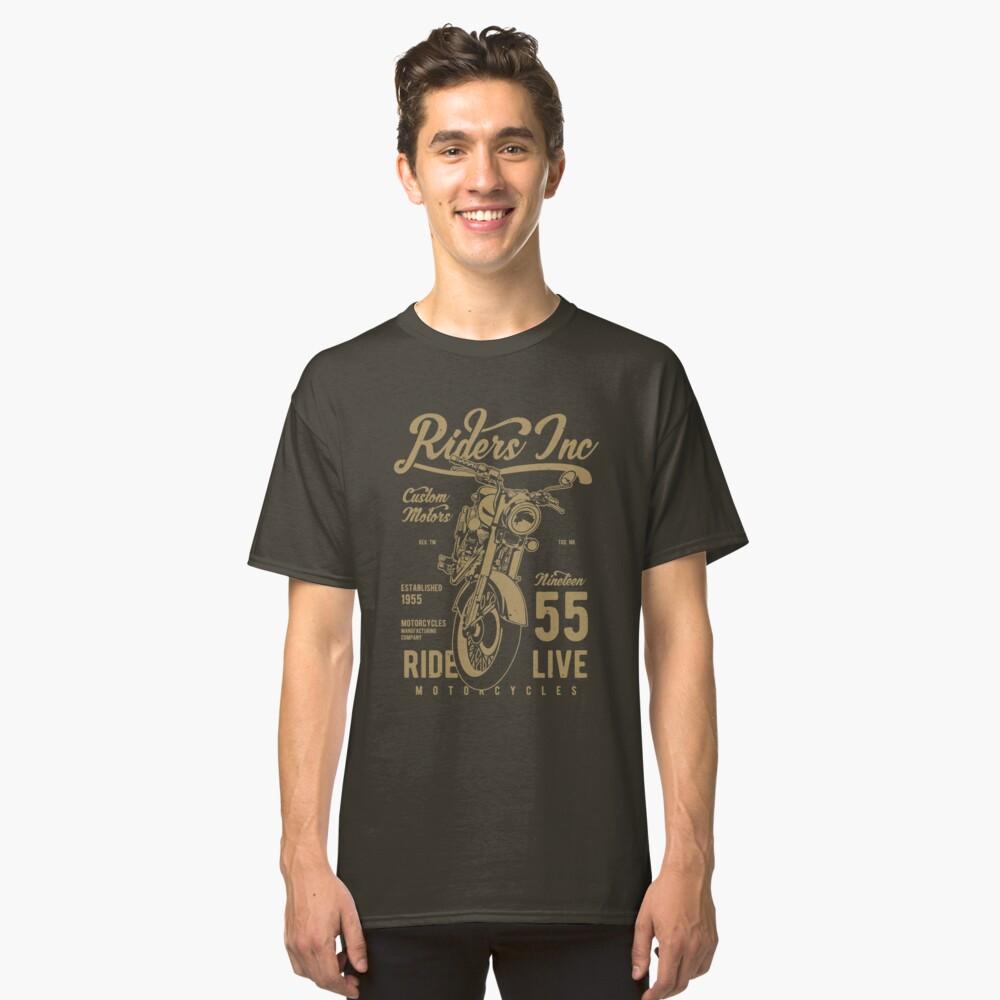 Riders Inc Custom Motors Motorcycle Vintage T-shirt Classic T-Shirt Front