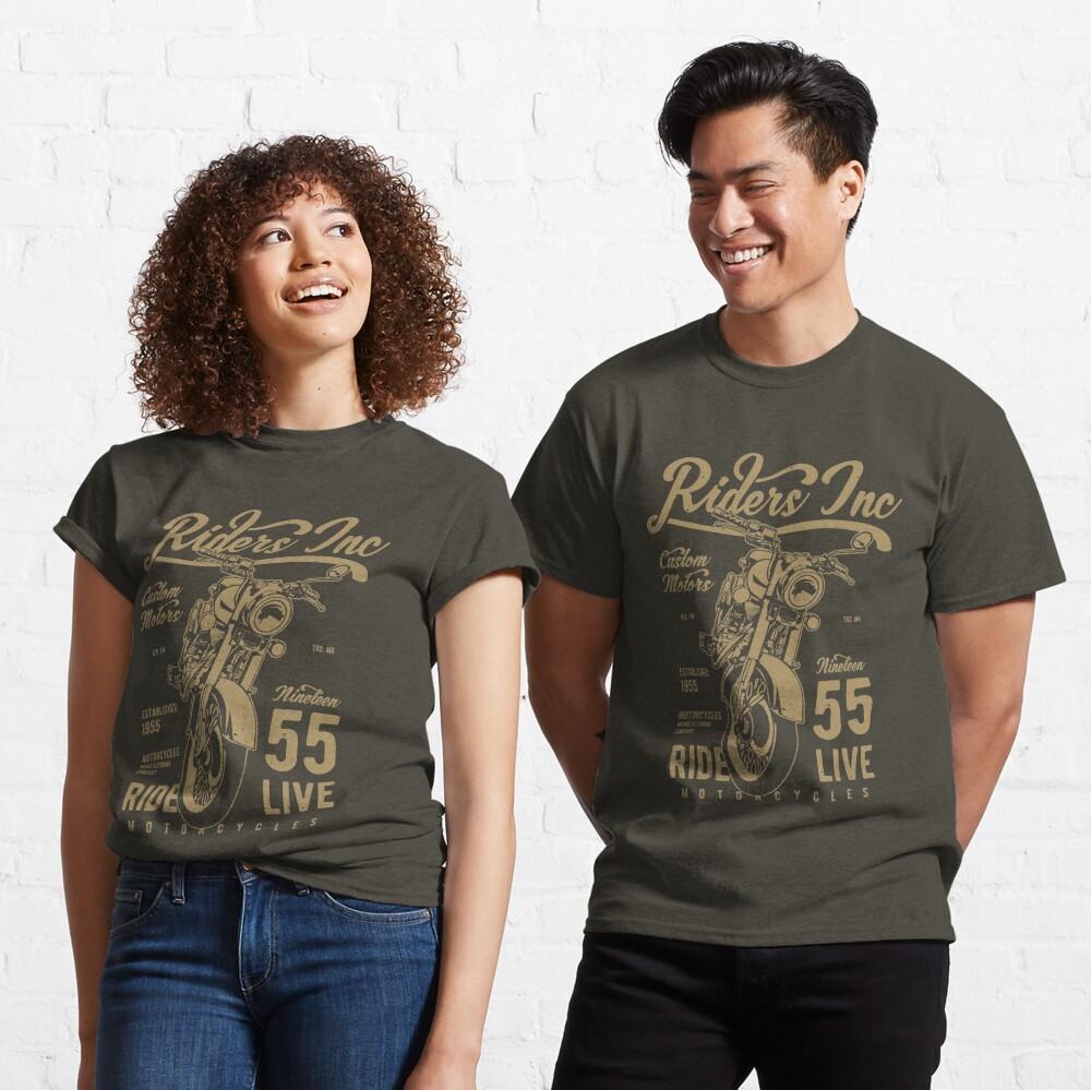 Riders Inc Custom Motors Motorcycle Vintage T-shirt Classic T-Shirt