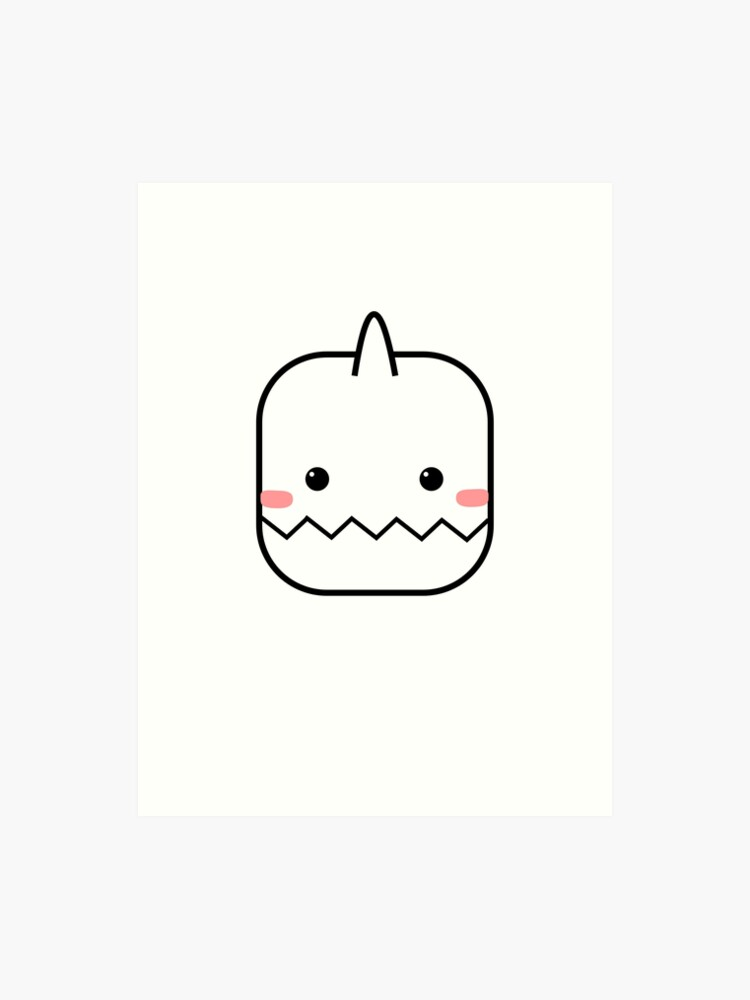 Cute Yeti Blush Emoji | Art Print