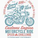 Speed Rebel Motorcycle Ride Vintage T-shirt by artbaggage