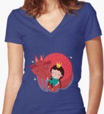 Amigo zorro Women's Fitted V-Neck T-Shirt