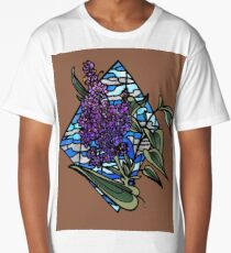 Lilac stained glass Long T-Shirt