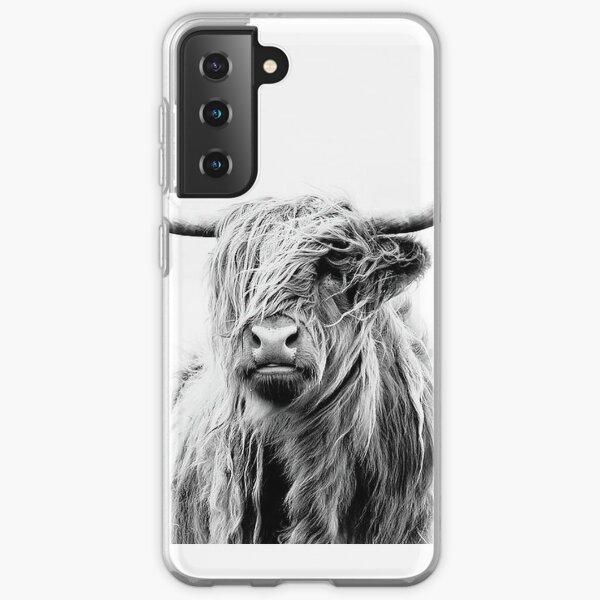 B+W Highland cow Samsung Galaxy Soft Case