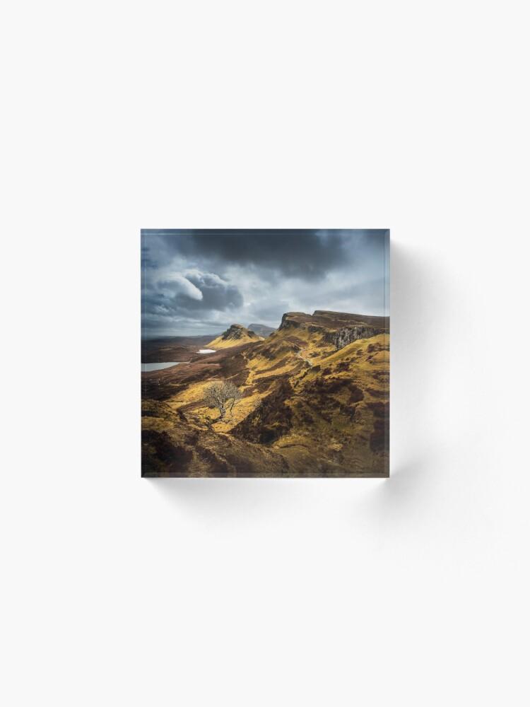Bloc acrylique ''The Lonely Tree': autre vue