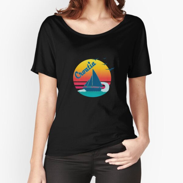 Retro Vintage Croatia 2 Sunset, #Croatia 2  Relaxed Fit T-Shirt